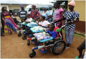 Donated-wheelchairs
